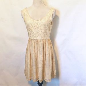 Anthro Knitted Dove Lace Dress (M)